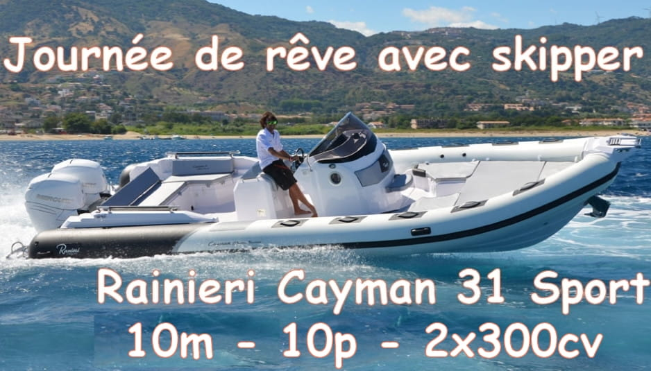 Location avec skipper / Rental with skipper / Alquiler con capitán